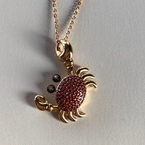 KATE SPADE NY Shore Thing Pave Crab pendant gold
